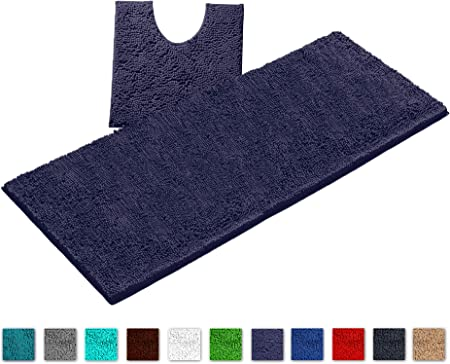 Bathtub Bathroom Carpet Plush Bath Mat Anti Slip Carpet Toilet Bathroom Rugs