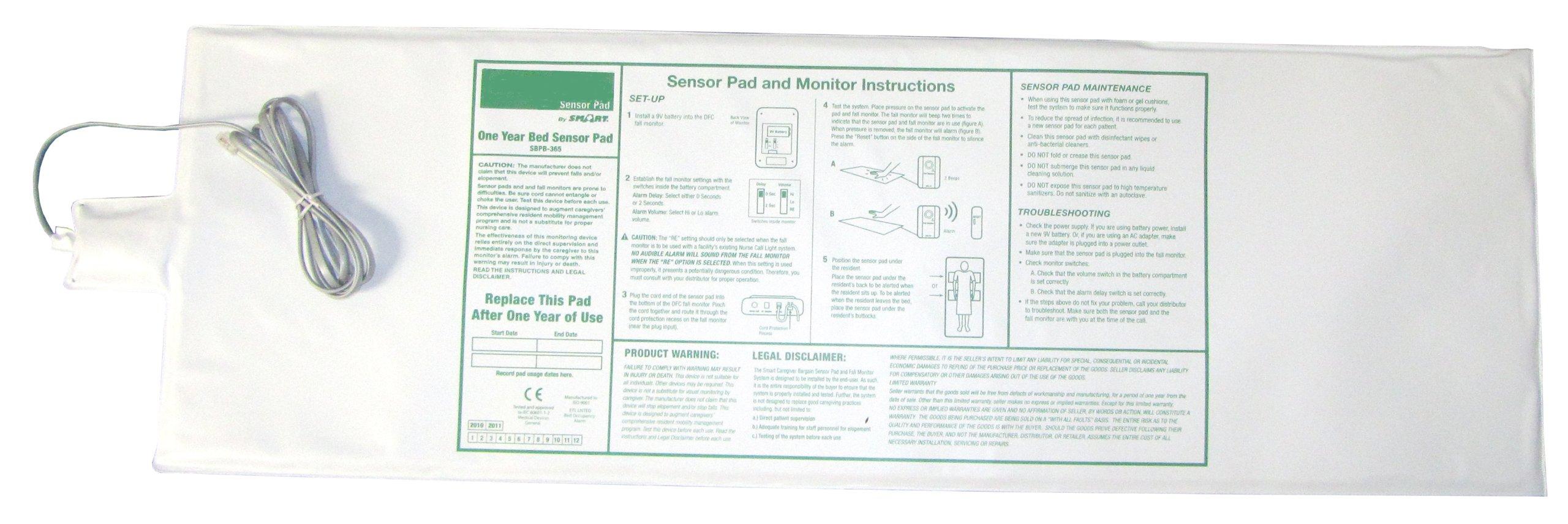 Smart Caregiver Bed Alarm and Sensor Pad