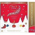Lindt Lindor Christmas Advent Calendar Assorted Chocolate, Gift Box, 158g, 158 Grams