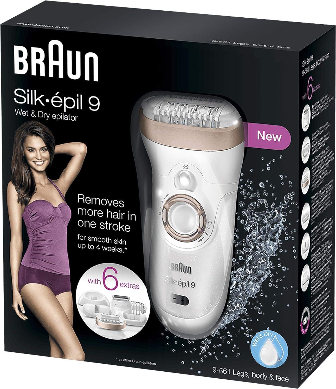 Braun Silk-épil 9 9-561 Depiladora eléctrica inalámbrica con ...