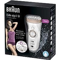 Braun Silk-épil 9 9-561 Wet and Dry Cordless Epilator/Epilation Plus 6 Extras (Compatible with UK 2-Pin Bathroom sockets…