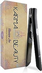 Titanium Hair Straightener | 1'' Flat Iron | LCD Screen |