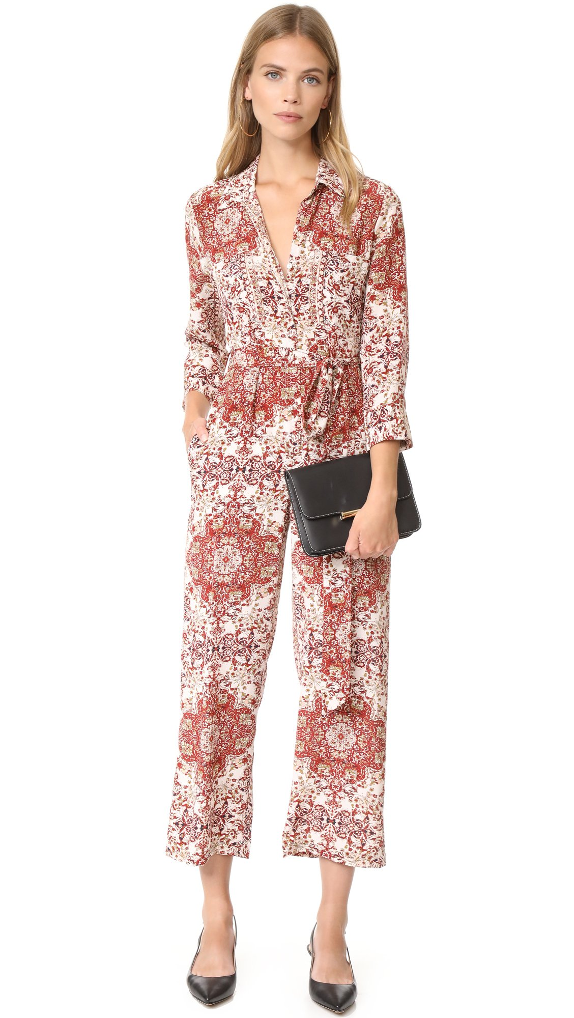 L'AGENCE Women's Delia 3/4 Sleeve Jumpsuit, Rhubarb Multi, 10 by L'agence (Image #4)