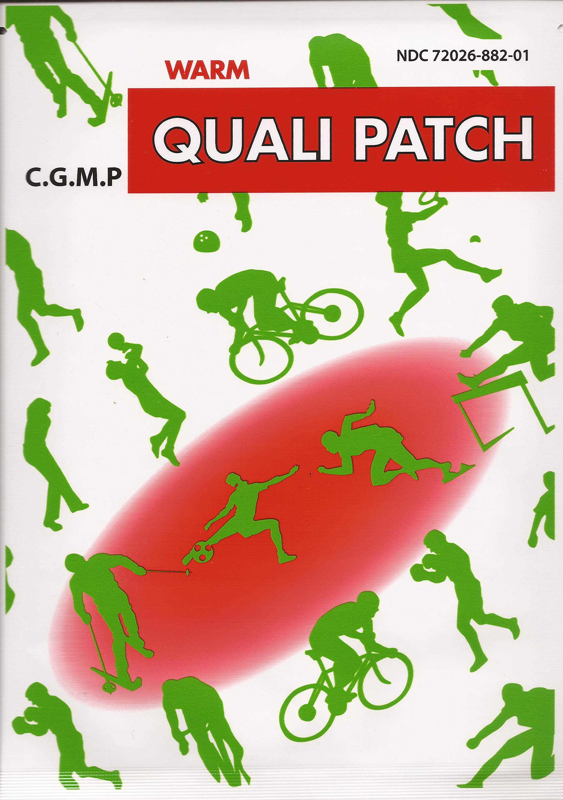Quali Patch - Warm Pain Relief Patch - 10 Pack - 2 sheets per pack by Qualiherb
