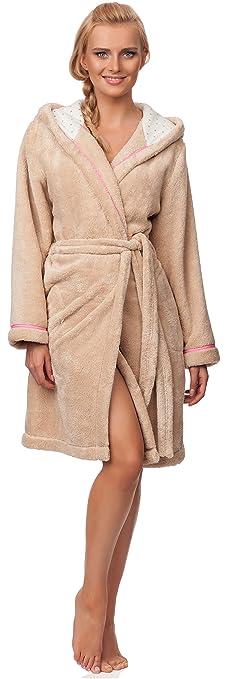 Dannii Matthews Womens Short Length Corel Fleece Wrapover Dressing Gown with Hood Small XL 6 Colours