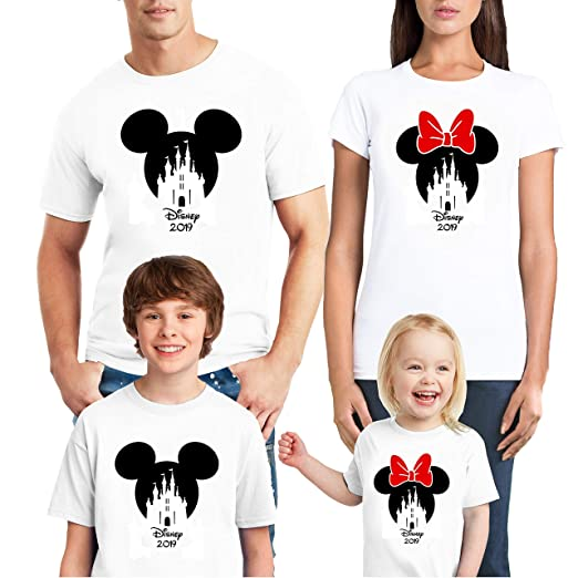 b5909805 Image Unavailable. Image not available for. Color: Natural Underwear Family  Trip 2019 Shirts Mouse ...