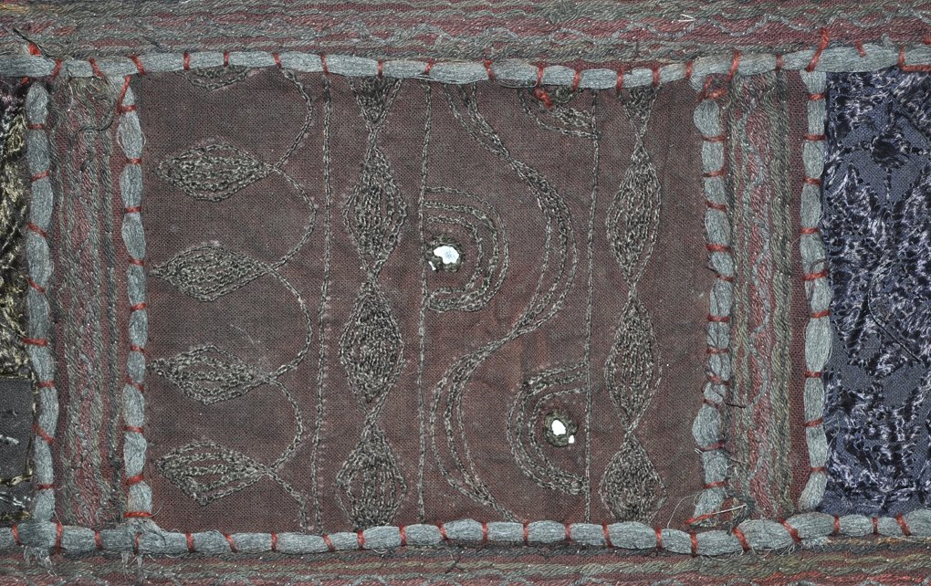 Decorative Embroidery /& Mirror Work Design Cotton Window Christmas Treatment Valance 39 x 19 Inches Black