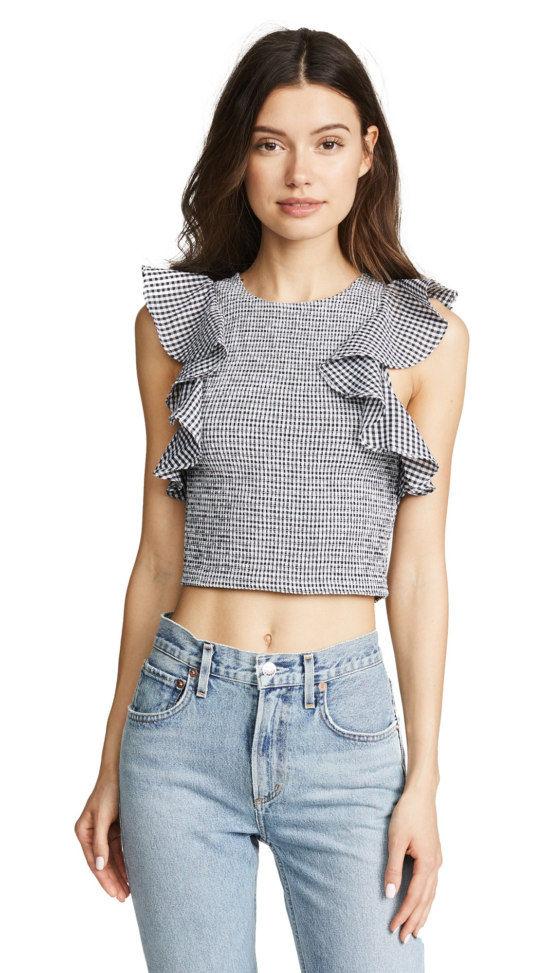 C/Meo Collective Women's Best Love Top, Black Check, Small by C/Meo Collective (Image #1)