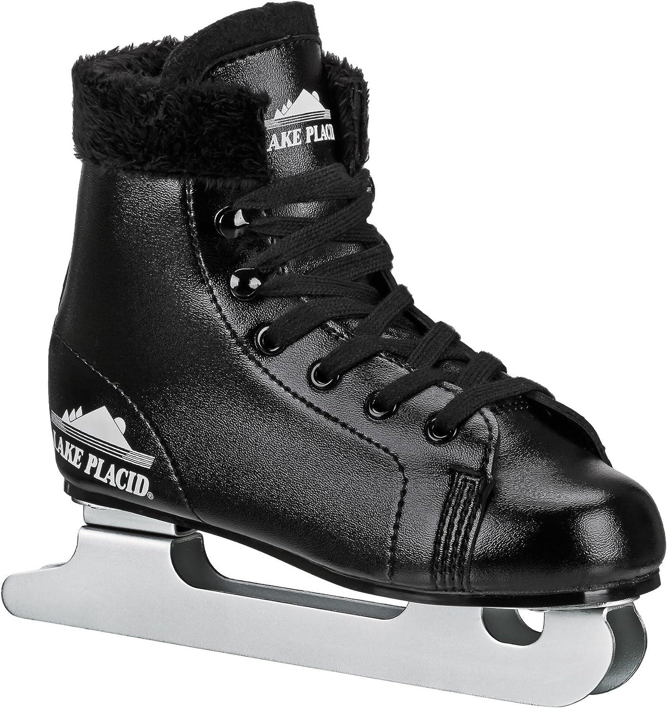 Black Lake Placid Starglide Boys Double Runner Figure Ice Skate