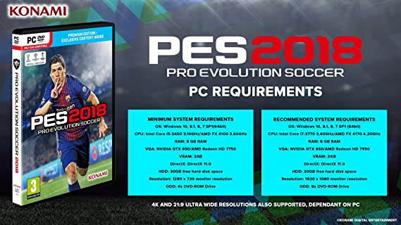PES 2018 (PC DVD): Amazon co uk: PC & Video Games