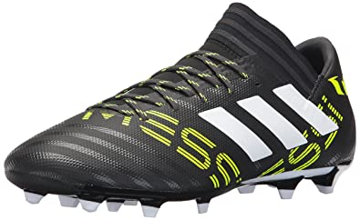 2fc7bac61f1 adidas Men s Nemeziz Messi 17.3 Firm Ground Cleats Soccer Shoe  Black White Solar Yellow