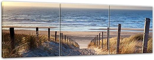 je 40cm*40cm Hochwertiger  Kunstdruck auf Leinwand dreiteilig Nordsee2