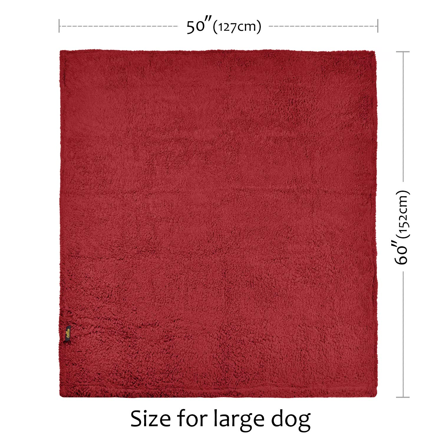 Pawsse Large Dog Sherpa Blanket 50\