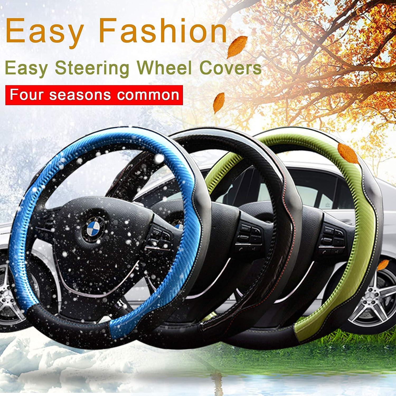 Car Steering Wheel Cover,Microfiber Leather Wheel Covers,Soft Padding/&Breathable Steering Bra,Anti-slip Car Wheel Protector,Smelless Steering Covers,Auto Car Steering Wheel Cover Universal 15 inch