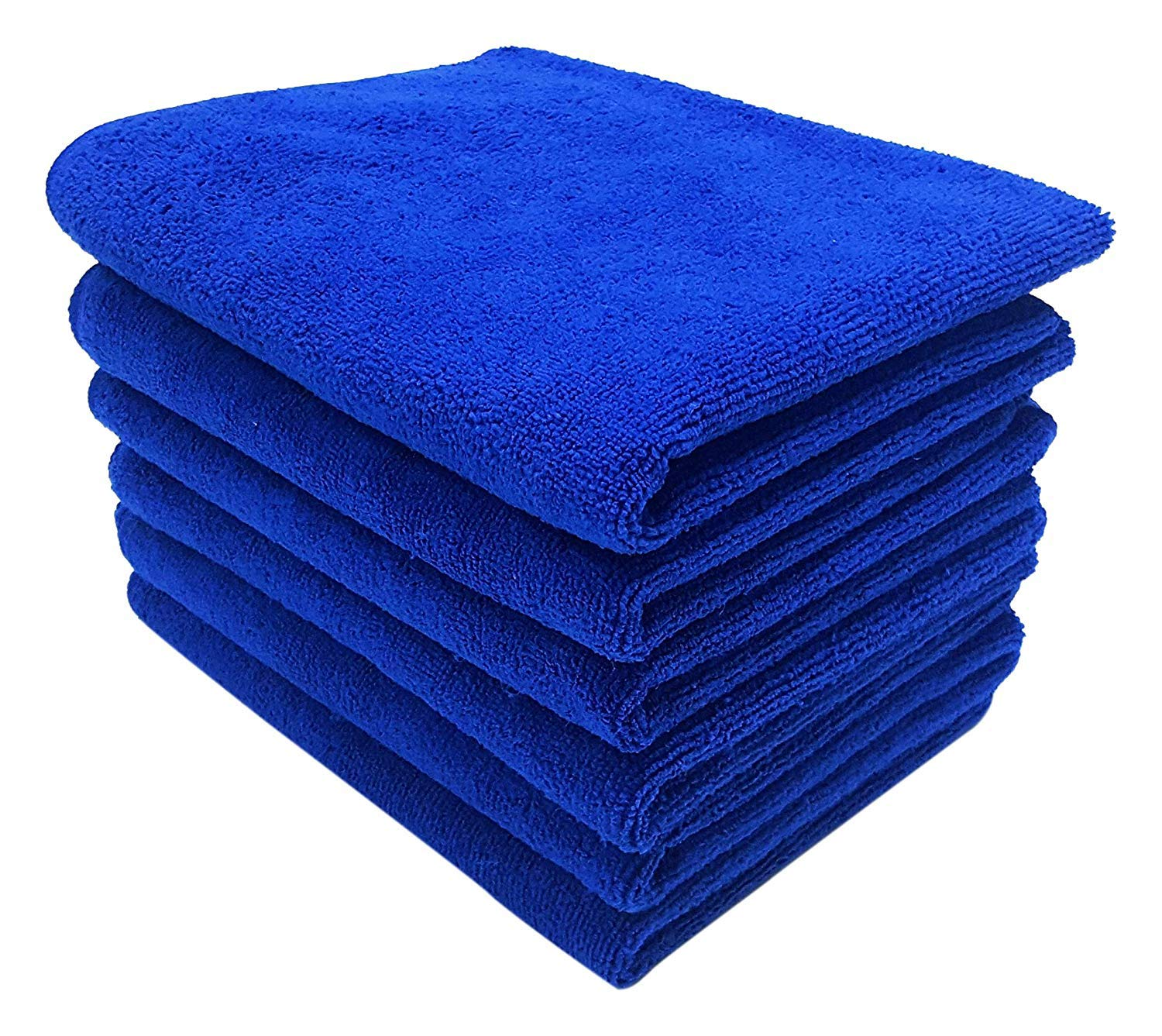 UTowels Professional Grade Premium Multi-Color Microfiber Towels 16'' x 16'' for All House Cleaning and Car Cleaning (144, Royal Blue) by UTowels (Image #1)
