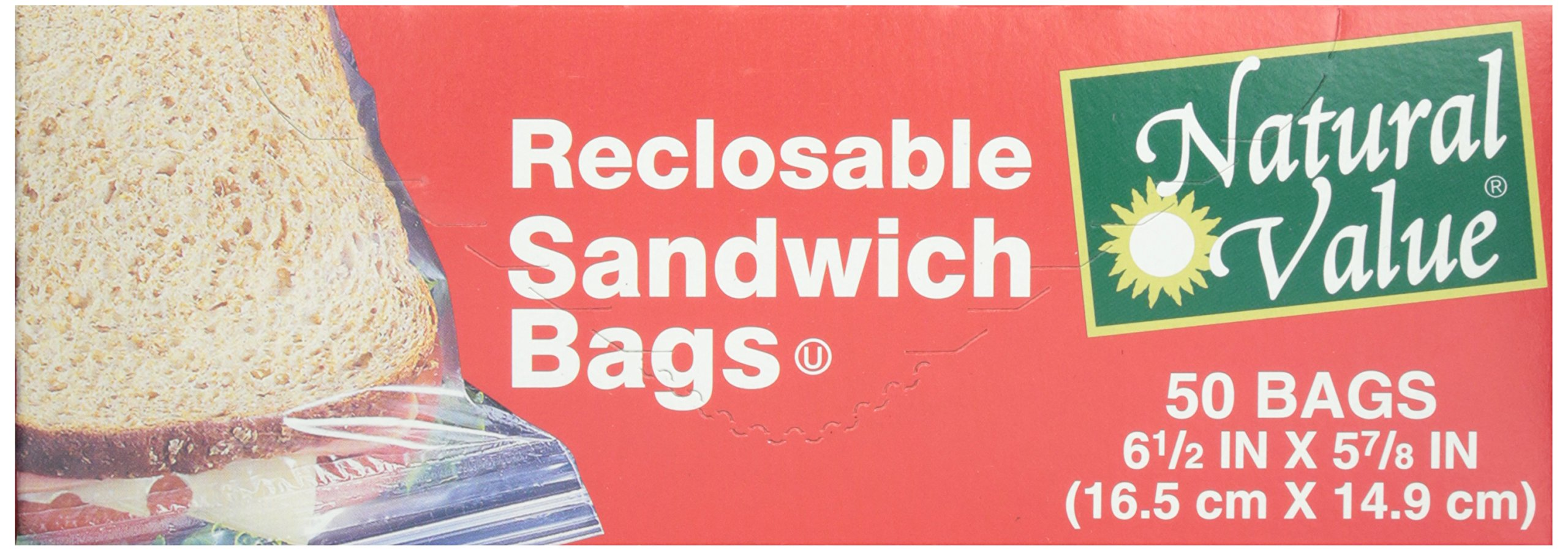 Natural Value, Sandwich Bags, 50 ct