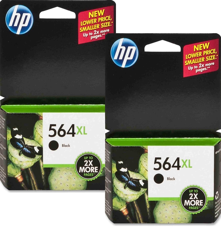 Black Ink Cartridge 2-Pack CN684WN GENUINE NEW HP 564XL