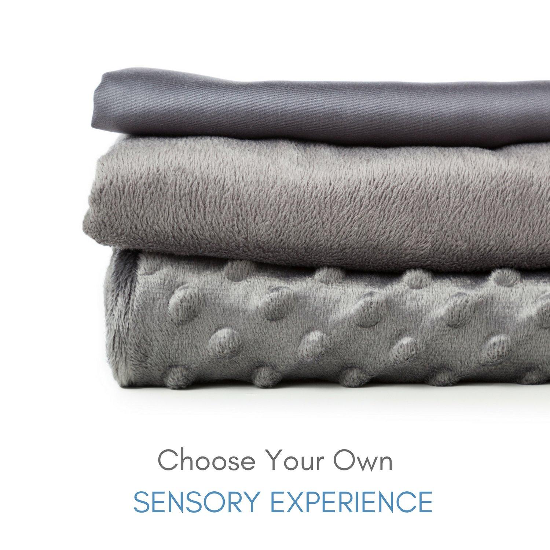 Snuggle Pro Luxury Minky Dot Duvet Cover for Weighted Blanket - 48''x72'' Twin Size/Full Bed Velvet Plush Weighted Blanket Cover by Snuggle Pro (Image #6)