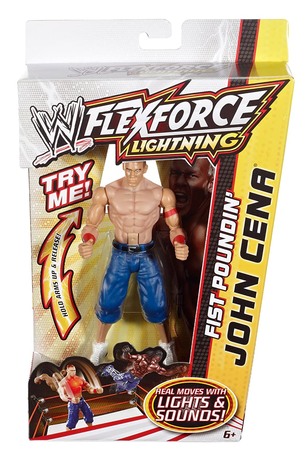 amazon com wwe flexforce lightning fist poundin john cena toys
