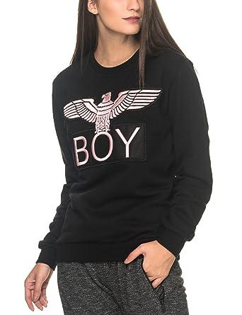 BOY London Sudadera - para mujer negro Black-Pink Small: Amazon.es: Ropa y accesorios