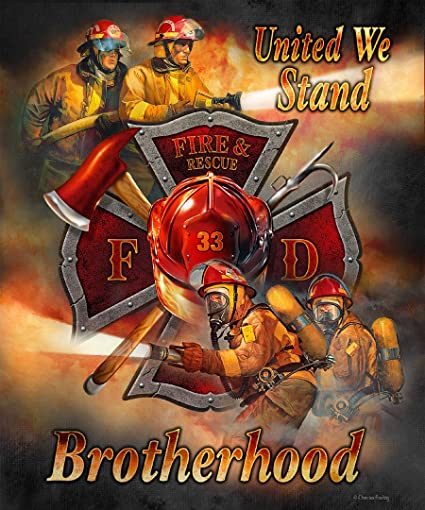 JQ Fire Dept Brotherhood Signature Select Soft Plush Queen Blanket