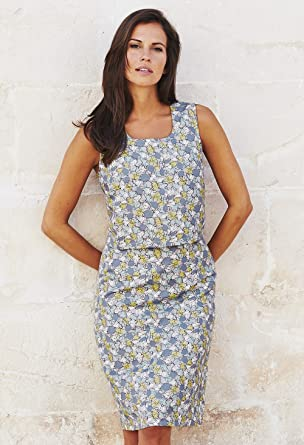 d18f4f11b7c Adini Blue Maeve Print Ciara Dress: Amazon.co.uk: Clothing