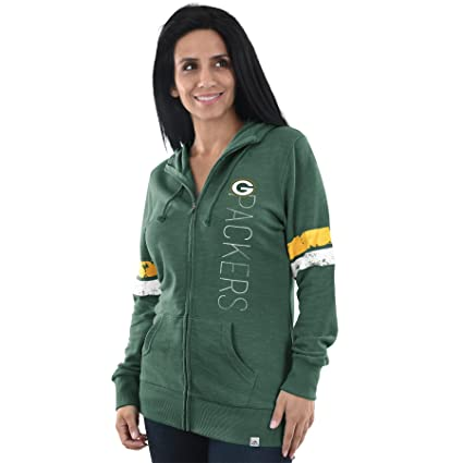 Majestic Green Bay Packers Womens Athletic Tradition Slouch Neck Full Zip  Hoodie (Small) 819289ca4
