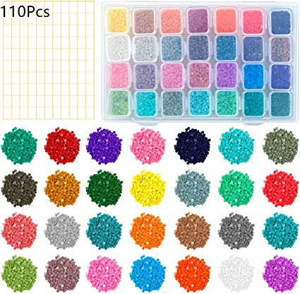 Lulyl 28 Colors Replacement Diamond Painting Diamonds With Adjustable 28 Grids Diamond Storage Boxes And 110 Pieces Marker Label For Missing Drills Replacement Round Diamonds Amazon Co Uk Beauty