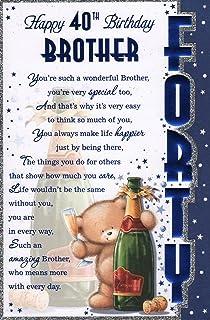Brothers 40th Birthday Card