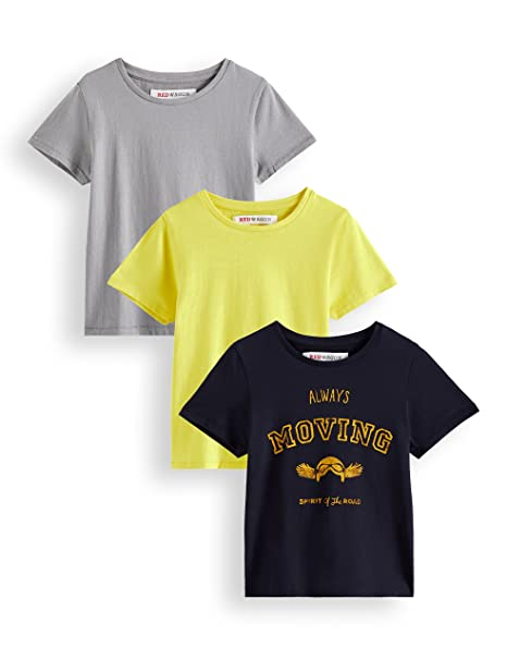 RED WAGON T-shirt con Stampa Geometrica Bambina