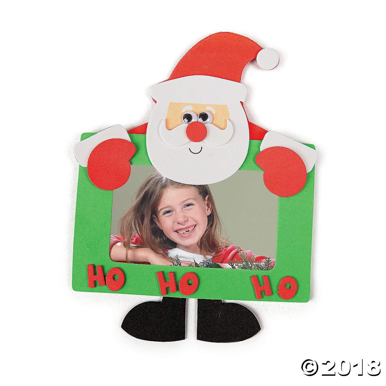 Photo Crafts for Kids-Makes 12 Oriental Trading Company 48//6372 Foam Santa Photo Frame Magnet Craft Kit
