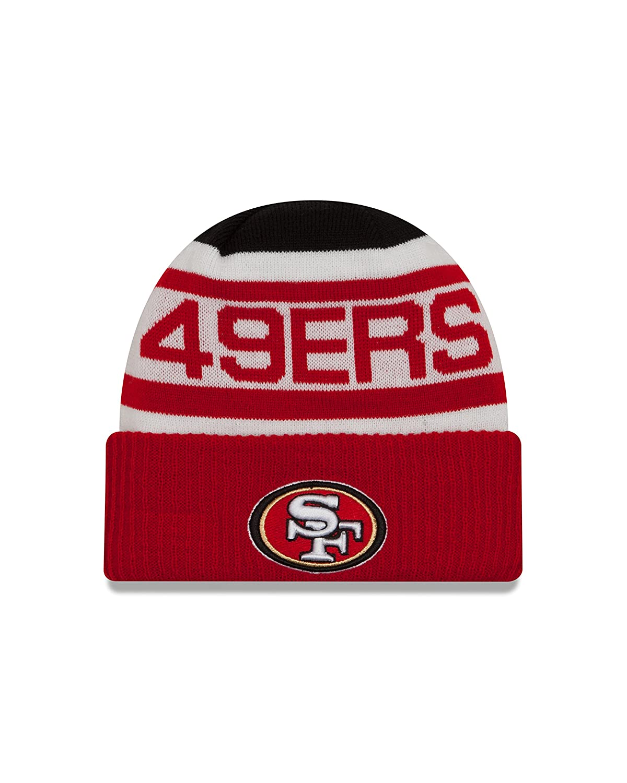 e546875dcbb Amazon.com   NFL San Francisco 49ers Biggest Fan 2.0 Cuff Knit Beanie