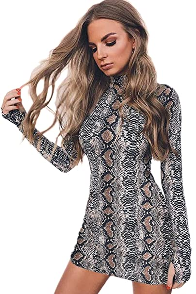 Zamtapary La Mujer Elegante Estampado De Leopardo Cuello ...