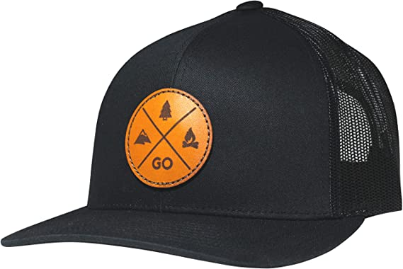b39f5fd3a0b8a0 Lindo Trucker Hat - GO Outdoors (Black) at Amazon Men's Clothing store:
