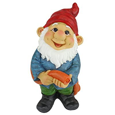 Garden Gnome Statue - Hose it Off Harry Piped Statue Gnome Fountain - Garden Gnome Fountain - Lawn Gnome : Garden & Outdoor