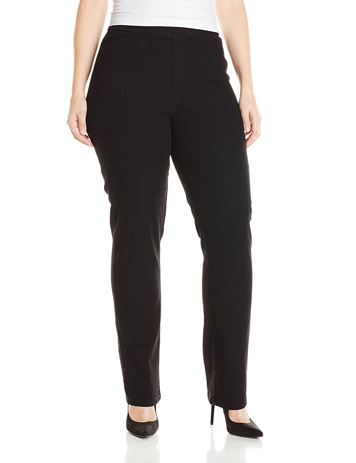 eefd78496303e Chic Classic Collection Women s Plus Size Easy Fit Elastic Waist Pull On  Pant at Amazon Women s Clothing store