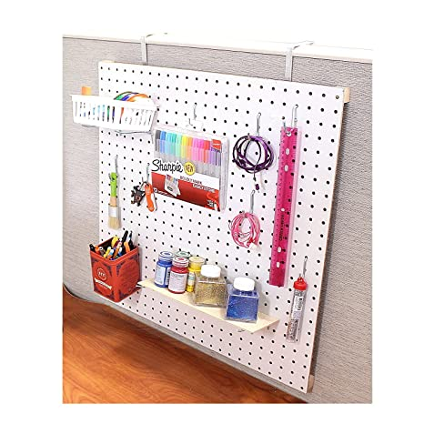 Pegboard Kit For Office Cubical Wall (White, 2ft X 2ft) By Chikomac