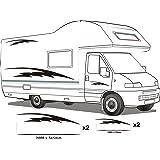 wohnmobil wohnwagen grafik dekoration aufkleber camper. Black Bedroom Furniture Sets. Home Design Ideas