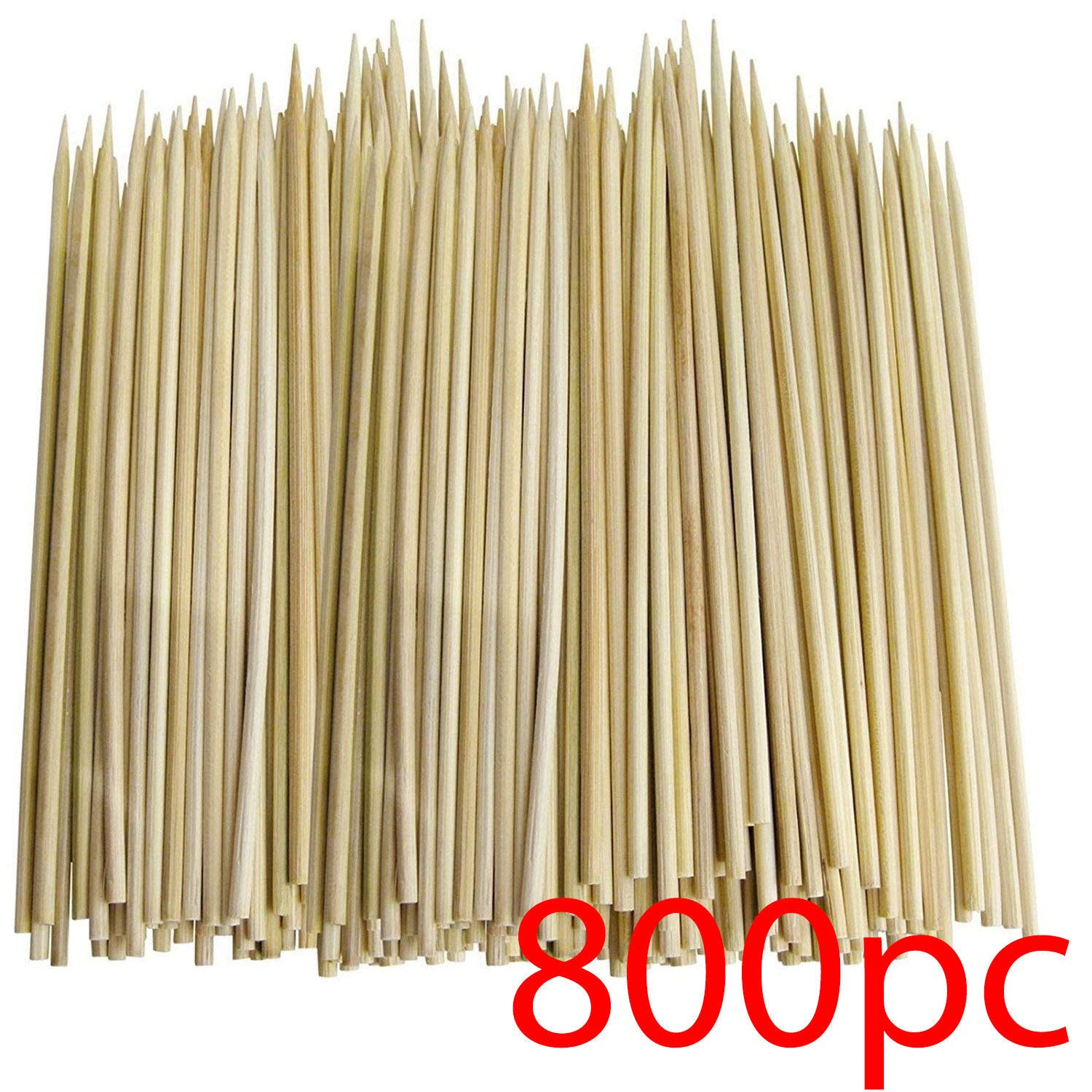 "800 Bamboo SKEWERS 20CM 8"" BBQ Kebab Wooden Wood Sticks Fruit Fondue Catering NT"