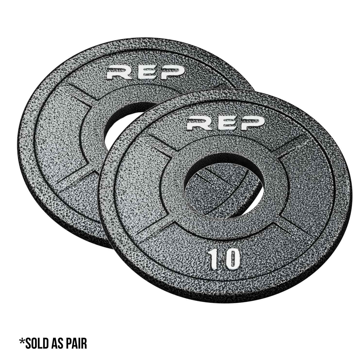 Rep Fitness Rep Gray Equalizer Iron Olympic Plates, 10 lb Pair