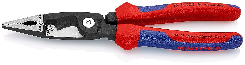 Knipex 13 82 200 – Pince d'électricien VDE à 6 fonctions, 200mm 200mm