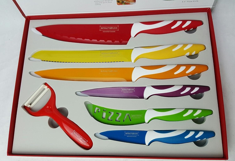 Compra Royalty Line - Set de 6 cuchillos de cocina y 1 ...