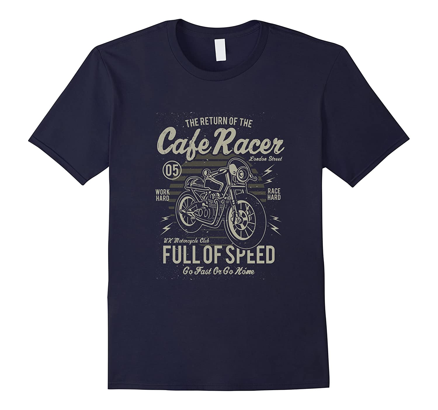 Cafe Racer Motorcycle T Shirt-TH