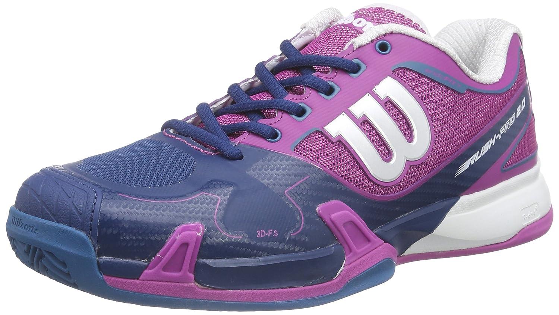MultiCouleure (Dark Peony 710) WILSON Rush Pro 2.0 Clay Court, Chaussures de Tennis Mixte Adulte 39 EU