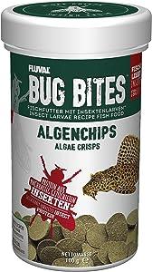 Fluval Bug Bites Algae Crisps for Bottom Feeders, Fish Food for Small to Medium Sized Fish, 1.41 oz.
