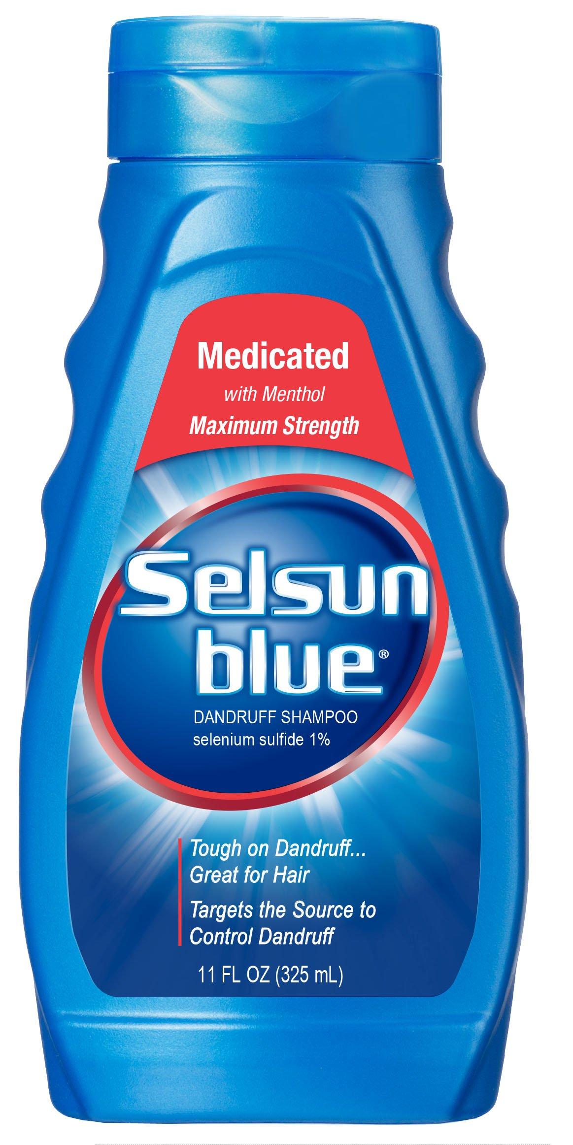 Selsun Blue Medicated Dandruff Shampoo 11 Fl Oz Bottles (Pack of 3)