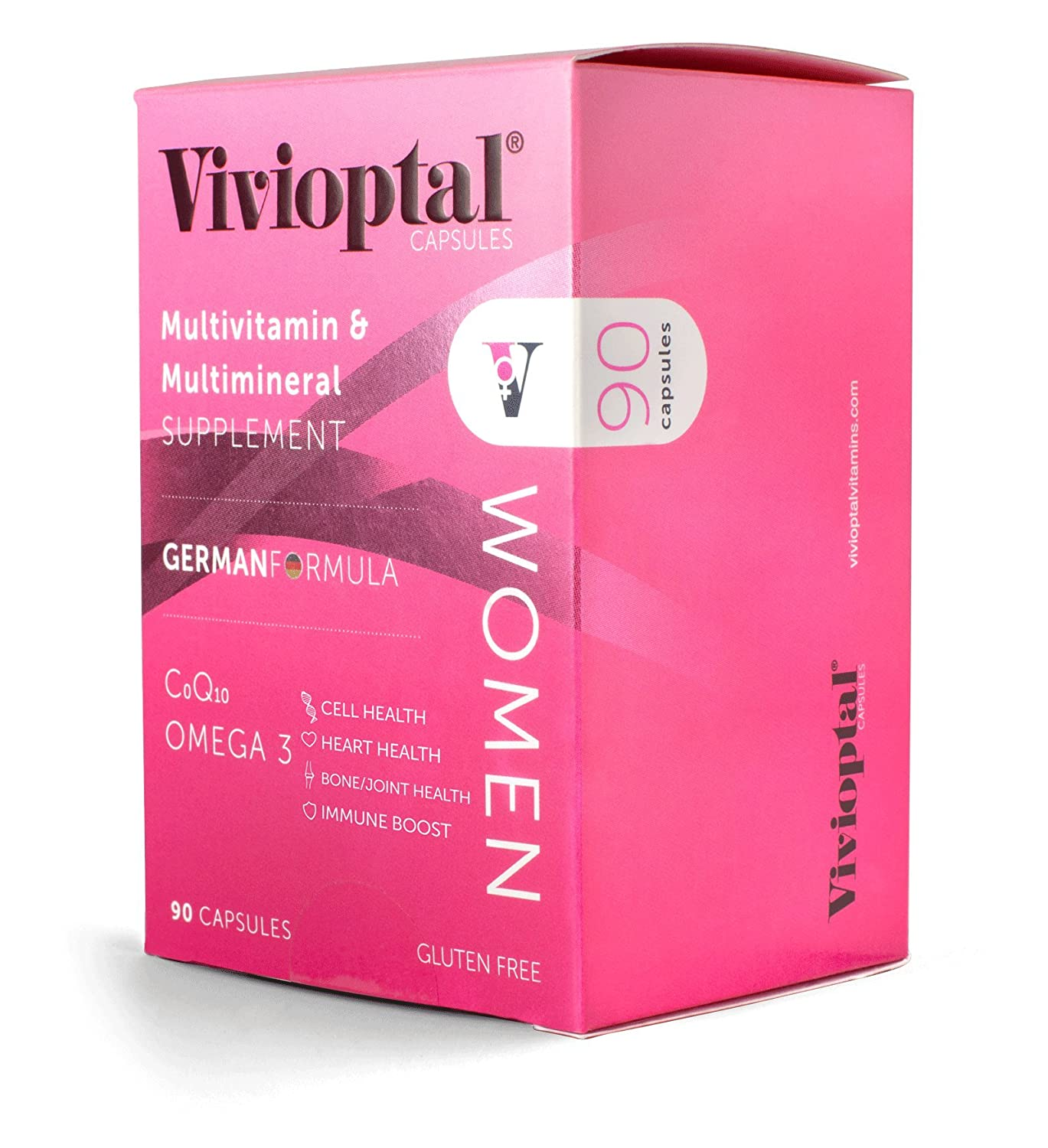 Vivioptal Women 90 Capsules – Multivitamin Multimineral Supplement – CoQ10 Omega-3