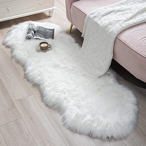 BAYKA Faux Sheepskin Fur Area Rug