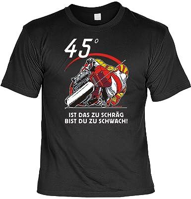 Sprüche Fun Tshirt 45 Grad - Bist Du zu schräg bist Du zu schwach in schwarz  : ): Amazon.de: Bekleidung
