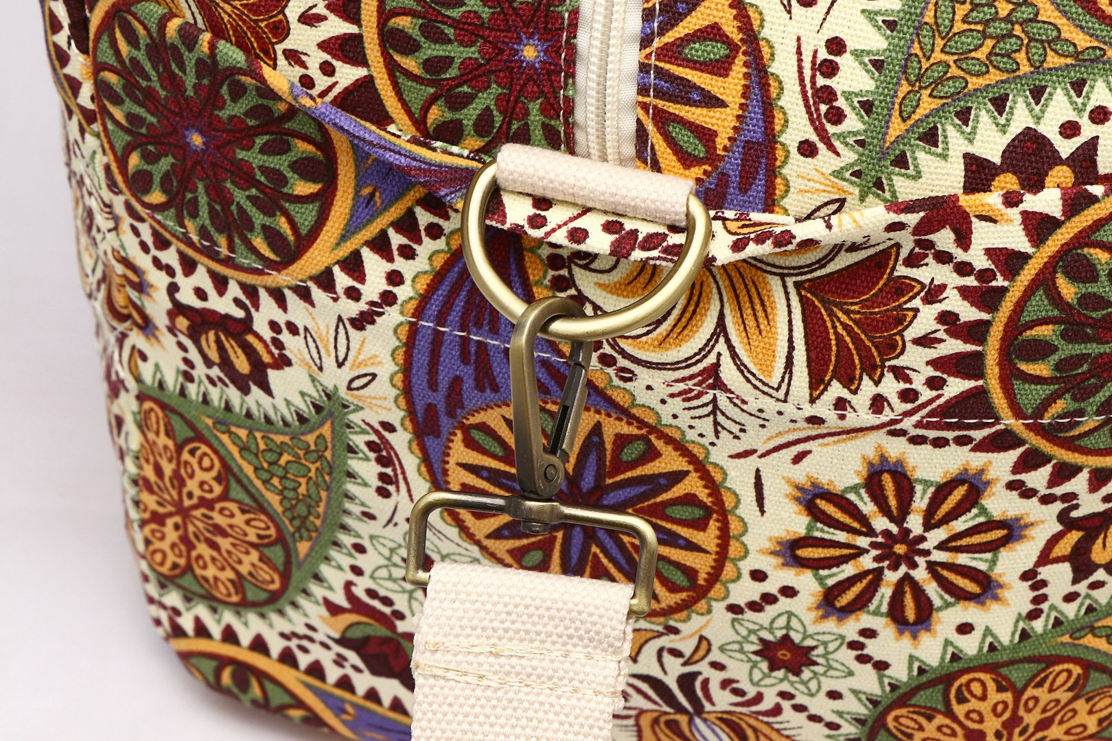 Malirona Canvas Weekender Bag Travel Duffel Bag for Weekend Overnight Trip (Yellow Flower) by Malirona (Image #9)